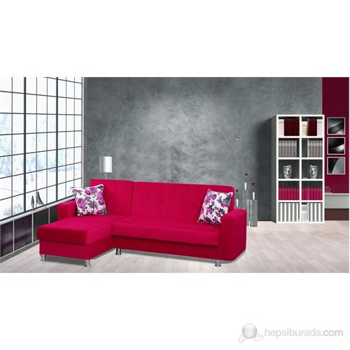 Sigma Tasarım Polo Köşe Takımı Yataklı Sandıklı Kırmızı
