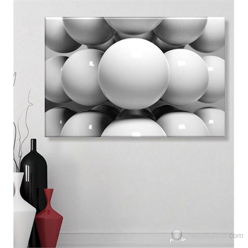 Siyah Beyaz Toplar Dekoratif Kanvas Tablo
