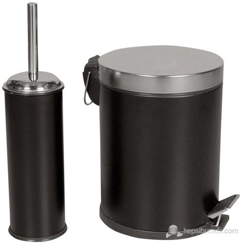 5 Litre Pedallı Çöp Kovası+Klozet Fırçası Seti