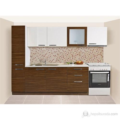 Kenyap 805937 Diamond Highgloss PVC Kapaklı Mutfak 280 Cm