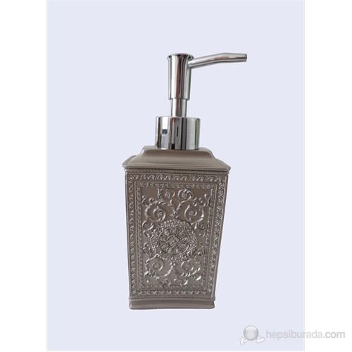 Dekoratif İşlemeli Gümüş Poliresin Sıvı Sabunluk