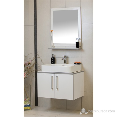 Zafer 75 Cm Banyo Dolabı - Beyaz