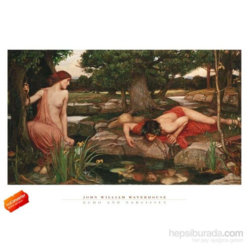 Wizard Genius Echo And Narcissus 60X80 Cm Art Print