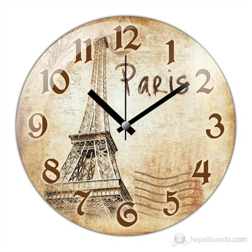 İf Clock Paris Duvar Saati