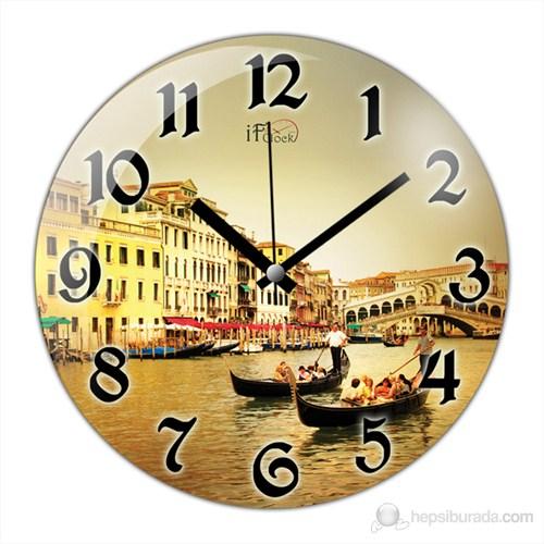 İf Clock Venedik Duvar Saati