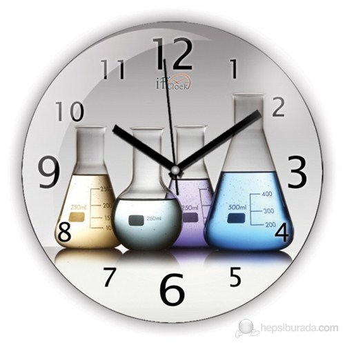 İf Clock Kimya Duvar Saati