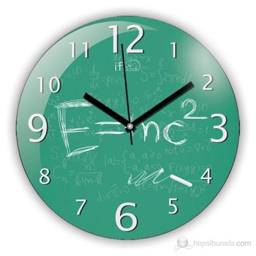 İf Clock E=Mc2 Duvar Saati