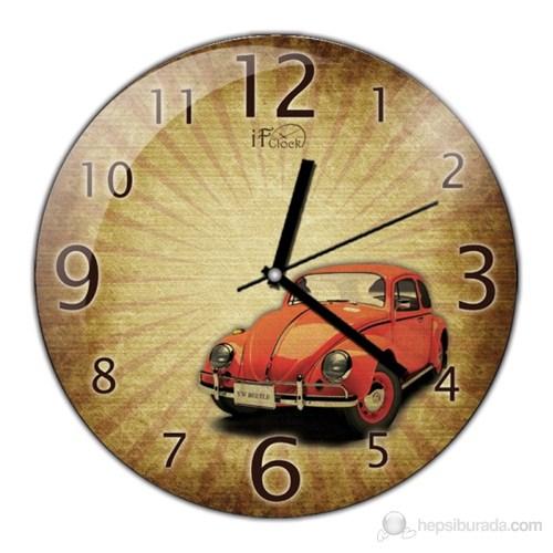 İf Clock Vosvos Duvar Saati