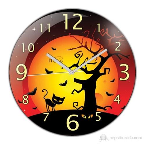 İf Clock Halloween Duvar Saati