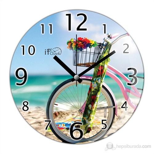 İf Clock Bisiklet Duvar Saati