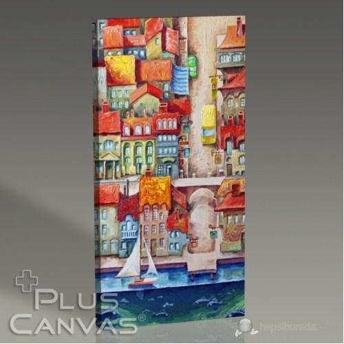 Pluscanvas - Deniz Kasaba Manzarası Tablo