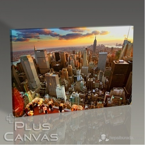 Pluscanvas - New York - At Sunset Tablo