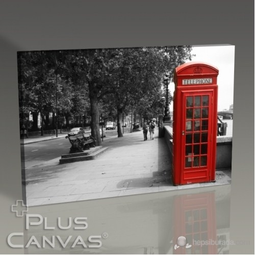Pluscanvas - London - Red Booth Tablo