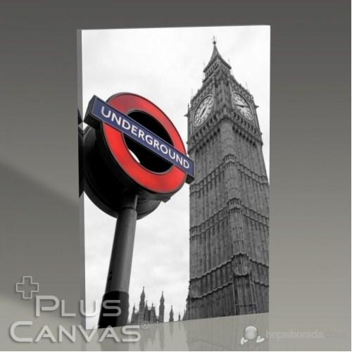 Pluscanvas - London - Underground And Big Ben Tablo