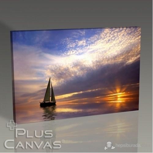 Pluscanvas - Beautiful Sunset And The Yatch Tablo