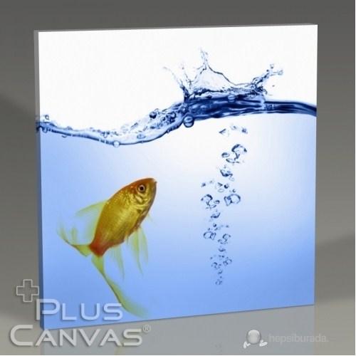 Pluscanvas - Gold Fish Tablo