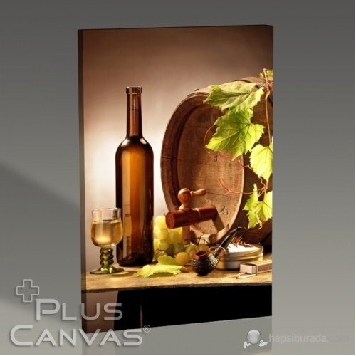Pluscanvas - Wine And Pipe Tablo