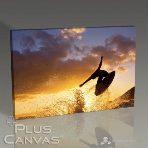 Pluscanvas - Surfing On Ocean Waves Tablo