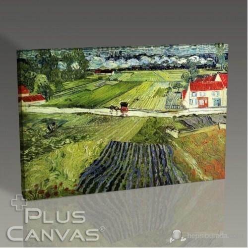 Pluscanvas - Vincent Van Gogh - Landscape With Carriage And Train Tablo