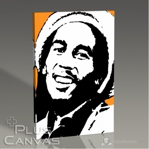 Pluscanvas - Bob Marley - Orange Tablo