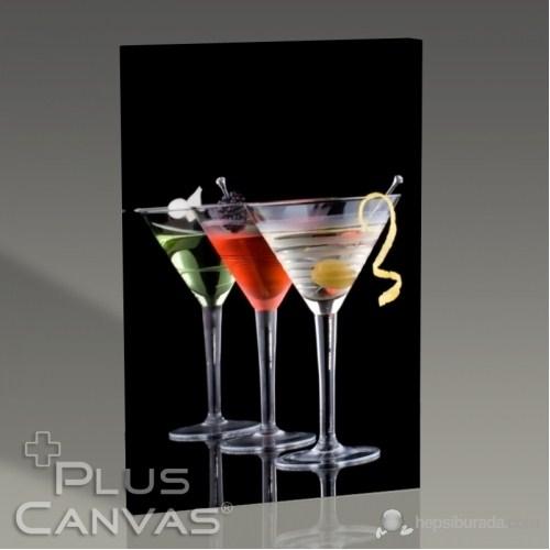 Pluscanvas - Üç Renk Kokteyl Tablo