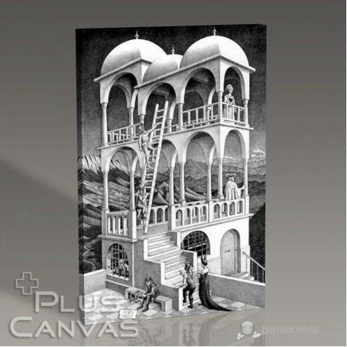 Pluscanvas - Mc Escher - Belvedere Tablo