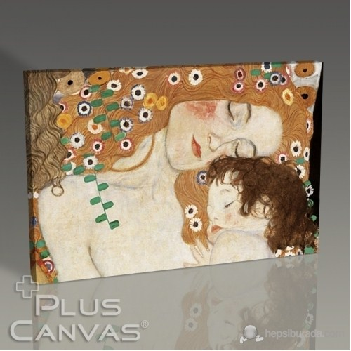 Pluscanvas - Gustav Klimt - Mother And Child Tablo