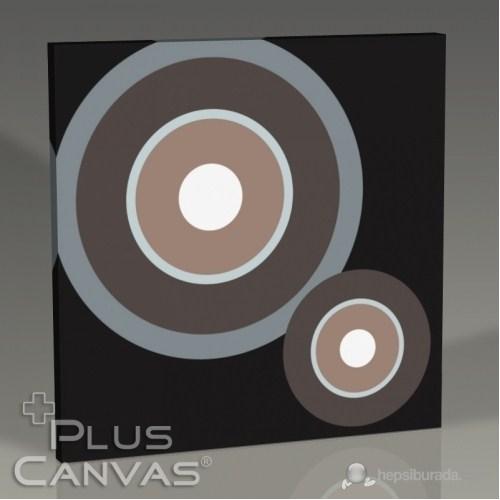 Pluscanvas - Black Circles Tablo