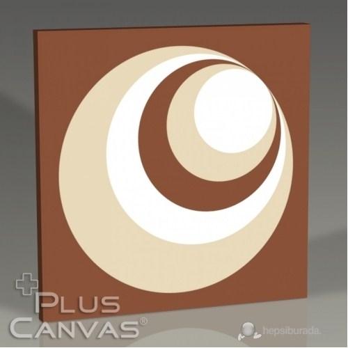Pluscanvas - Circle Over Circle Biege Tablo