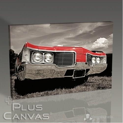 Pluscanvas - Retro Car I Tablo