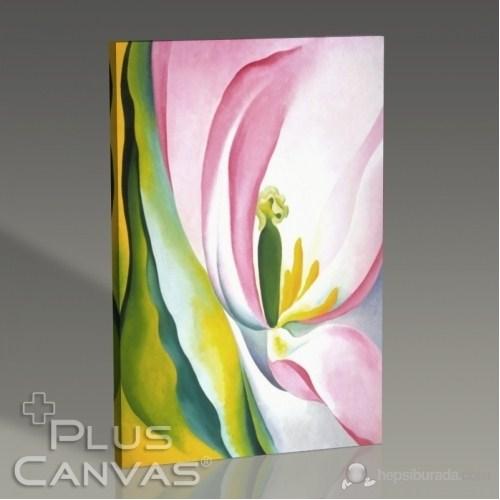 Pluscanvas - Georgia Okeeffe - Pink Tulip Tablo