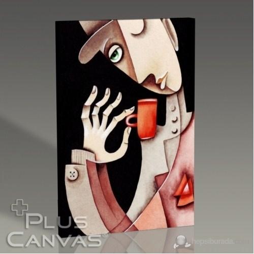Pluscanvas - Marinne Vias - Drink Coffee Tablo