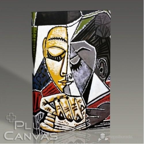 Pluscanvas - Pablo Picasso - Tete Dune Femme Lisant Tablo