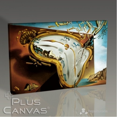 Pluscanvas - Salvador Dali - Soft Watch At The Moment Of First Explosion 1954 Tablo