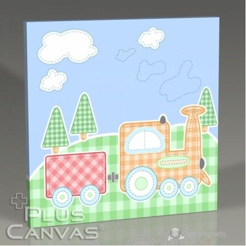 Pluscanvas - Baby Train Tablo