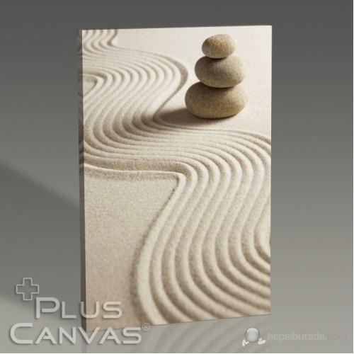 Pluscanvas - Pebble On Sand Iı Tablo