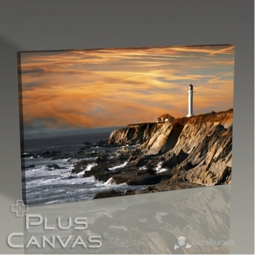 Pluscanvas - Lighthouse Over Hills Tablo