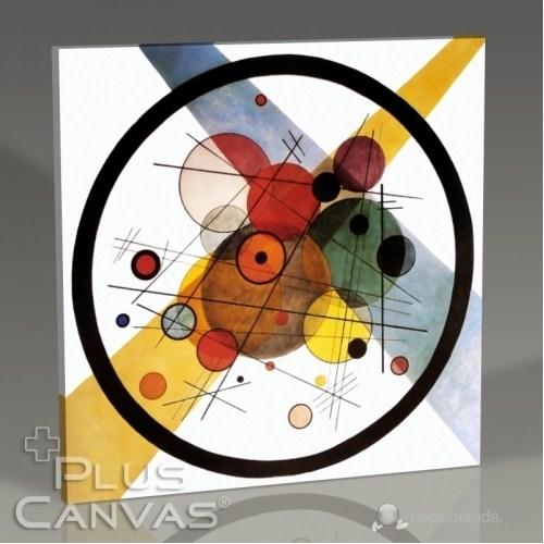 Pluscanvas - Wassily Kandinsky - Kreise İn Kreis 1923 Tablo