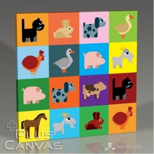 Pluscanvas - Colored Animals Tablo