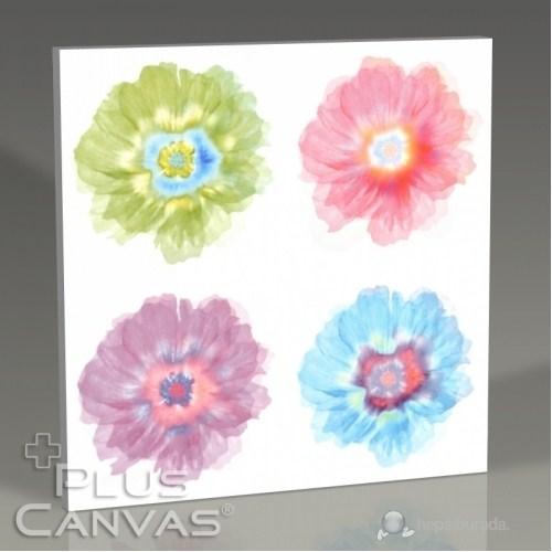 Pluscanvas - Quattre Fleurs Tablo