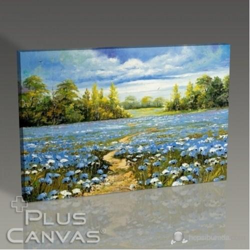 Pluscanvas - Path Over The Flowers Tablo