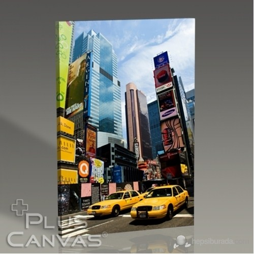 Pluscanvas - New York - Yellow Cabs At Times Square Tablo