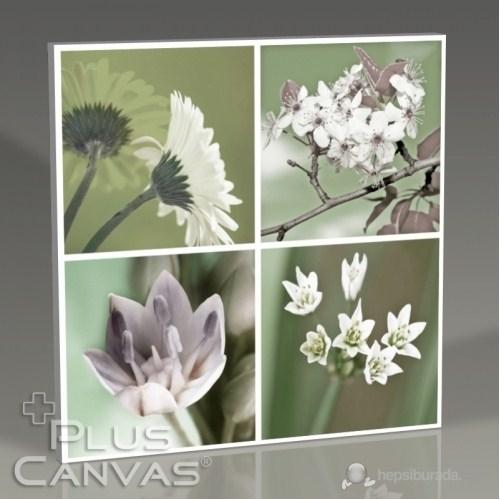 Pluscanvas - Quattro Flowers Iv Tablo