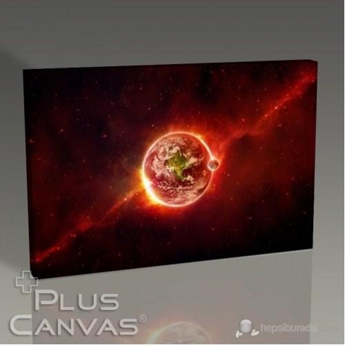 Pluscanvas - Earth In Red Tablo