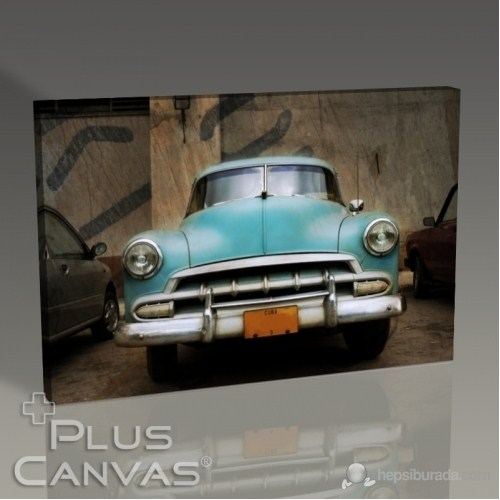 Pluscanvas - Classical Blue Car Tablo