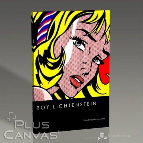 Pluscanvas - Roy Lichtenstein - Girl With Hair Ribbon Tablo