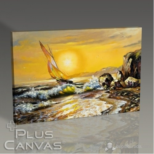 Pluscanvas - Yatch And The Waves Tablo