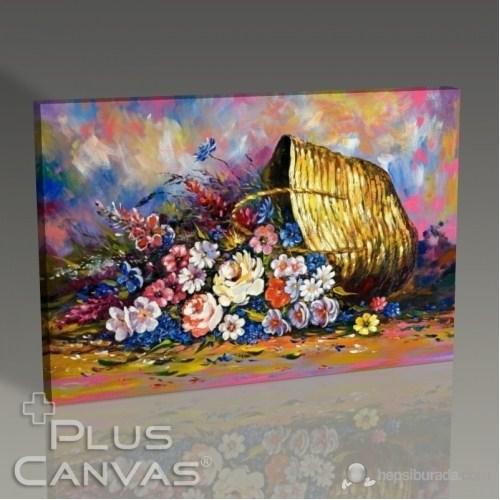 Pluscanvas - Flowers İn The Basket Tablo