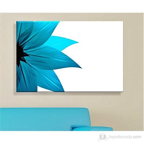 Mavi Çiçek Dekoratif Kanvas Tablo