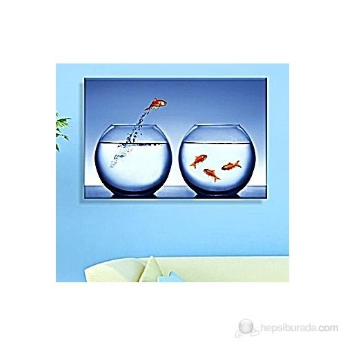 Japon Balıkları Dekoratif Kanvas Tablo
